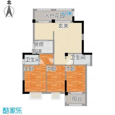 滨海御景城12131.88㎡1#2#型户型3室2厅2卫1厨
