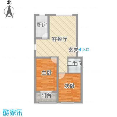 龙屿・香醍溪苑88.00㎡A户型2室2厅1卫1厨