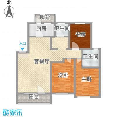 香墅湾庄园123.73㎡多层户型3室3厅2卫1厨