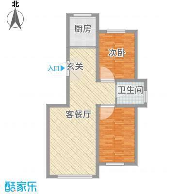 香墅湾庄园87.22㎡小高层户型2室2厅1卫1厨