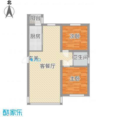 阿斯兰小镇82.58㎡三期电梯观景洋房G03户型2室2厅1卫1厨