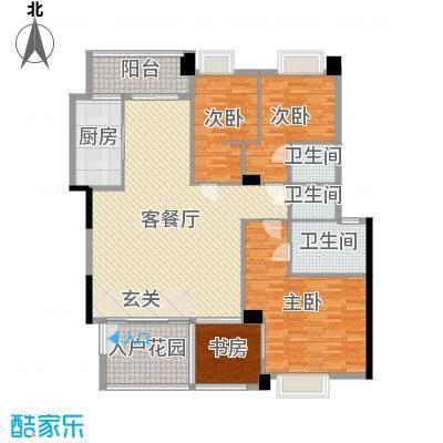 景观一品174.15㎡7栋、11栋户型4室4厅3卫1厨