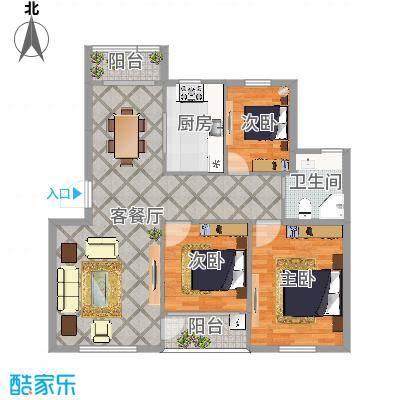 常青藤小城三室108平米