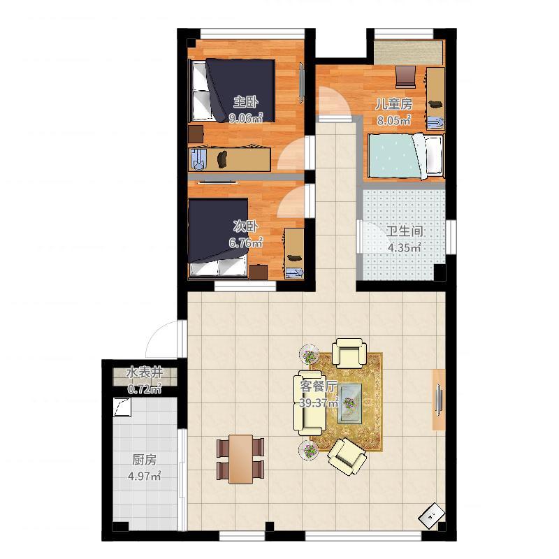 四川 内江 房屋平面图 户型图
