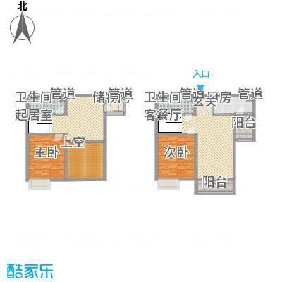 敏捷・上城国际85.00㎡B1B2户型3室2厅2卫1厨-副本