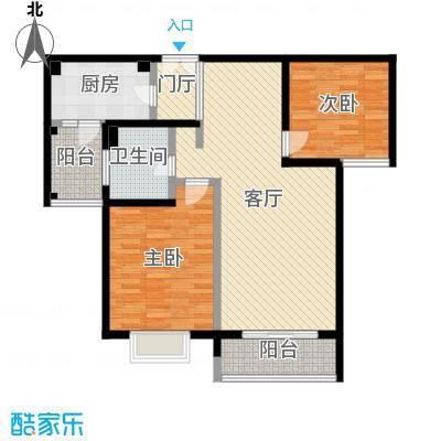 绿地名人坊100.00㎡房型: 二房; 面积段: 100 -110 平方米; 户型-副本-副本