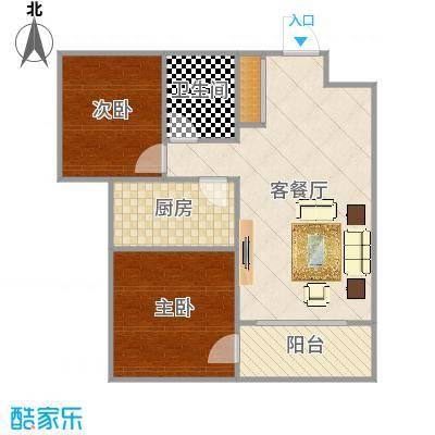 奥兰里小区两室两厅一厨一卫一阳台TM001