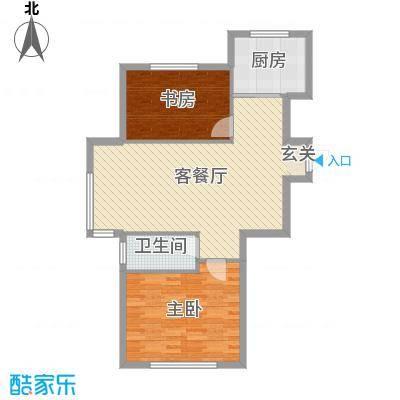 阳光丽景二期81.92㎡11#b1户型2室2厅1卫1厨