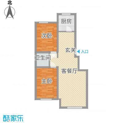 兴源・蓝海左岸89.00㎡D89户型2室2厅1卫1厨