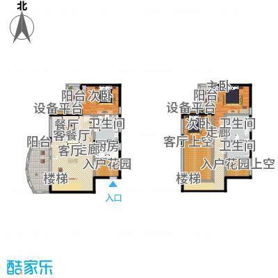 华润小径湾点式复式三房A户型3室2厅3卫192.00㎡户型3室2厅3卫-副本