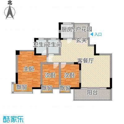 龙湾上和城131.00㎡1#-8#C5户型3室2厅2卫1厨-副本