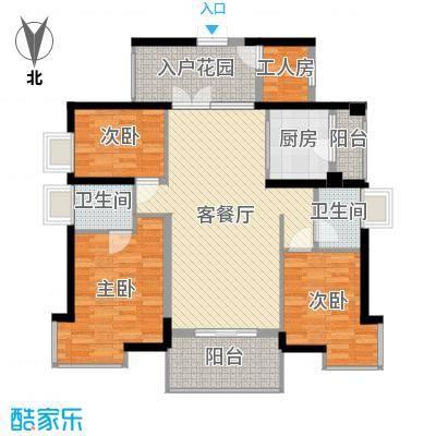 钰海山庄132.77㎡第1栋0户型3室2厅2卫-副本-副本