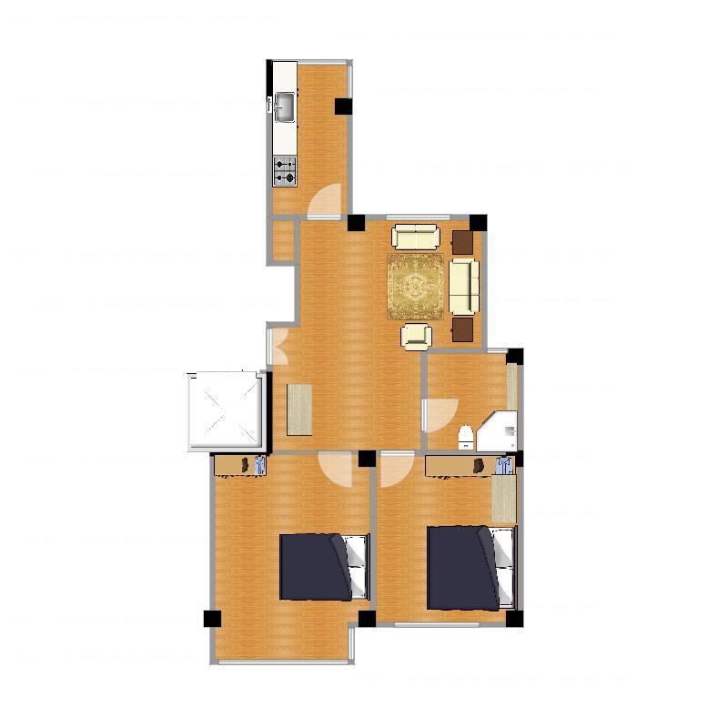 客厅双沙发设计图-副本