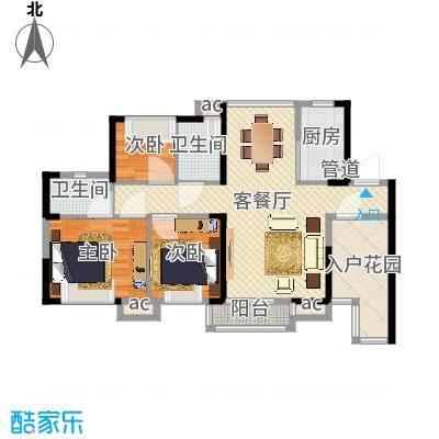 三正卧龙山一号98.00㎡三正卧龙山一号户型图1-4栋、7栋标准层A户型3室2厅2卫1厨户型3室2厅