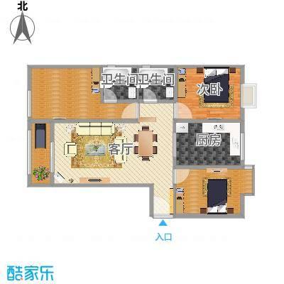 三居室2号户型方案