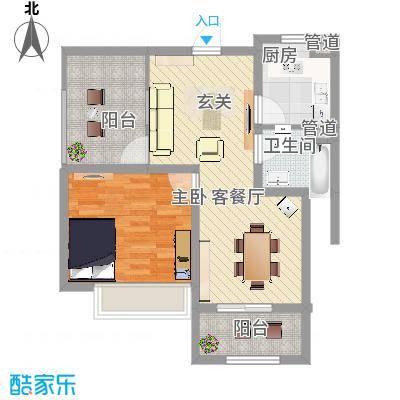 绿地启航社5期69.00㎡B2-2户型10室-副本