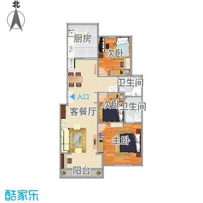 北京-西城区-陶然北岸113m²方案一