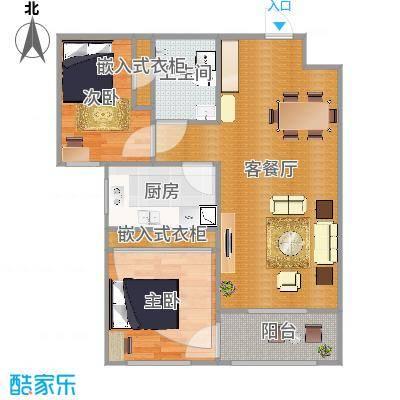 丽景御园一室一厅一厨一卫LR003