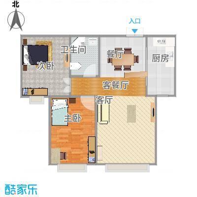 香缇苑86.29㎡效果图-轻舟装饰-副本-副本