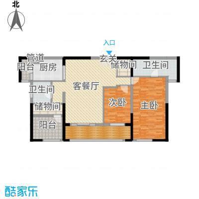 万科紫台143.00㎡A2户型3室3厅2卫