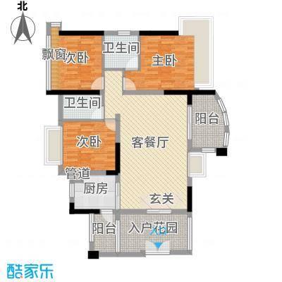 顺宝・天誉花园109.49㎡02单位户型3室3厅2卫