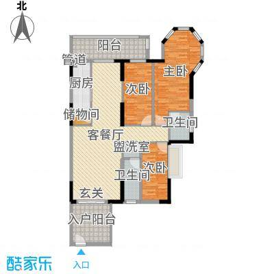 穗光・温泉花园133.00㎡户型3室3厅2卫1厨