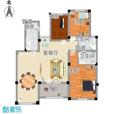 生态城公园360°154.31㎡21-33#楼四居户型4室2厅2卫1厨-副本