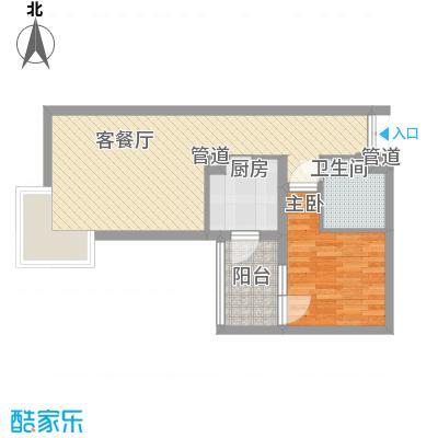 北苑家园茉藜园茉藜园户型1室1厅1卫1厨