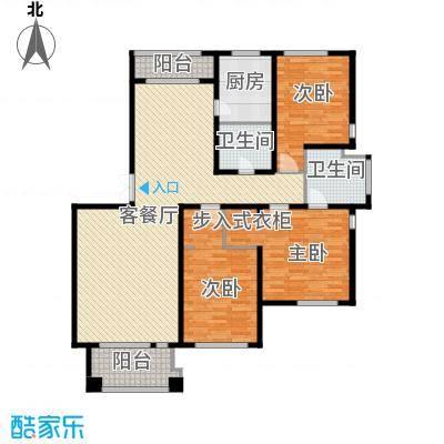 绿城桂花城146.48㎡户型3室1厅2卫1厨