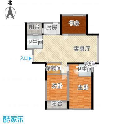 嘉联华铭座公寓140.00㎡住宅户型2户型3室2厅2卫1厨