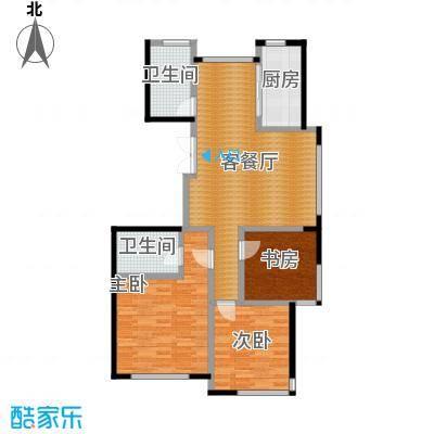 红苹果114.80㎡户型3室1厅2卫1厨