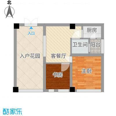 骏丰嘉骊花园63.00㎡酒店式公寓户型1室2厅1卫