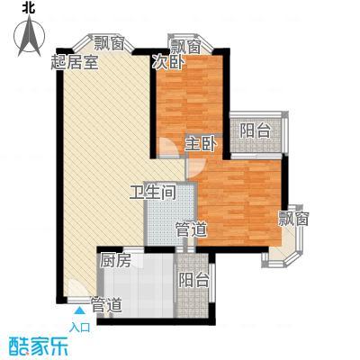 协和城100.29㎡II座总统公寓A户型1室1厅1卫1厨