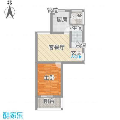 小上海新城三期61.00㎡I1户型1室1厅1卫1厨