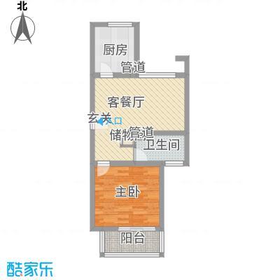 小上海新城三期62.00㎡F1户型1室1厅1卫1厨