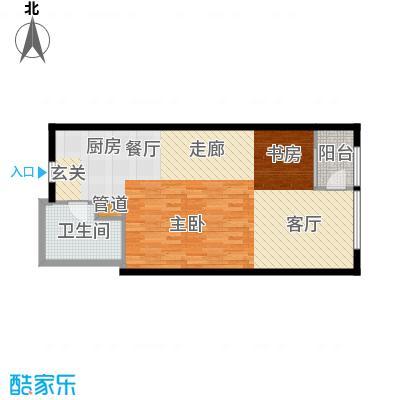 佘山新天地休闲广场70.00㎡B1户型1室1厅1卫