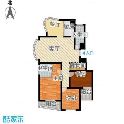 赞成荆山翠谷二期123.68㎡户型3室1厅2卫1厨