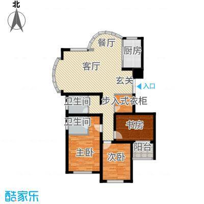 赞成荆山翠谷二期119.13㎡户型3室1厅2卫1厨