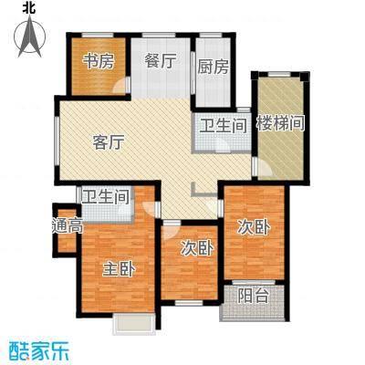 多蓝水岸145.00㎡D4多层户型4室1厅2卫1厨