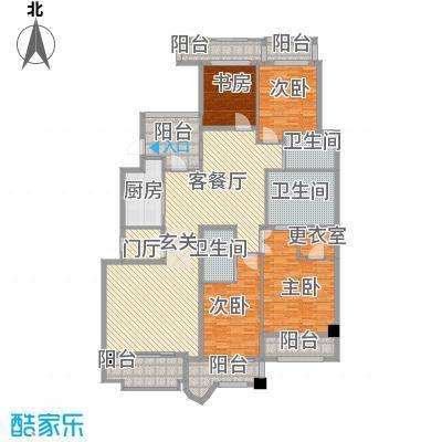 中海篁外山庄180.00㎡空中宽邸户型4室2厅3卫1厨