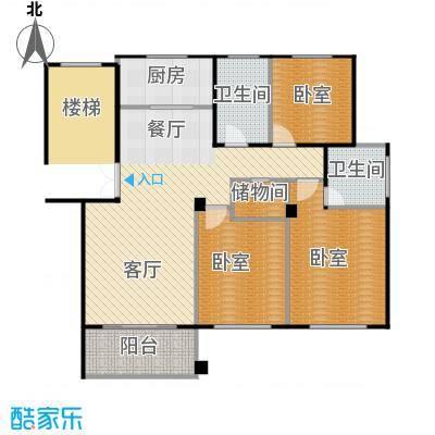 嘉楠阳光华庭116.00㎡户型1厅2卫1厨
