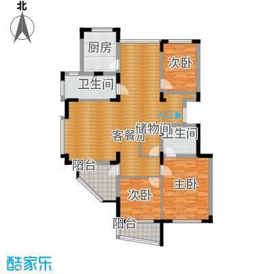坤和山水人家三期144.00㎡户型3室1厅2卫1厨