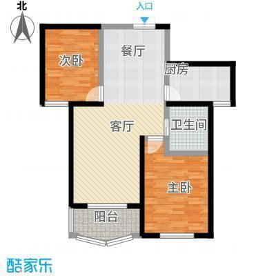 天元2005102.26㎡户型2室1厅1卫1厨