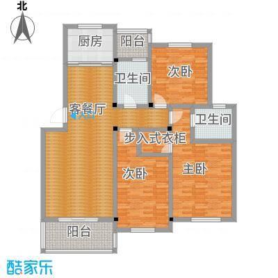 多蓝水岸134.00㎡户型3室1厅2卫1厨