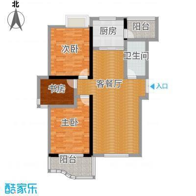 天元2005123.90㎡户型3室1厅1卫1厨