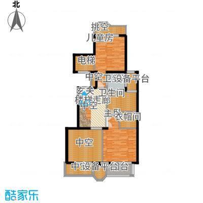 中海篁外山庄180.00㎡空中复式户型3室2厅3卫1厨