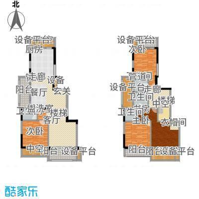中海篁外山庄180.00㎡180复式户型3室3厅3卫1厨