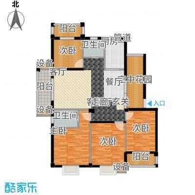 乾水湾153.93㎡A1户型4室2厅2卫1厨