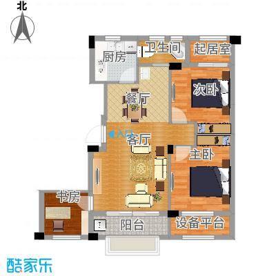 海棠公寓87.00㎡户型3室1厅1卫1厨