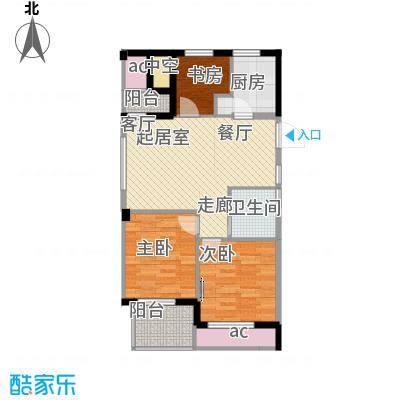 海棠公寓90.00㎡户型3室1厅1卫1厨